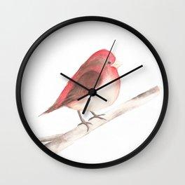 Chubby Finch Wall Clock