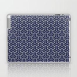 Japanese Yukata Jinbei Bishamon Navy pattern Laptop & iPad Skin