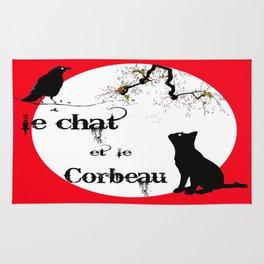 Le chat et le corbeau  Rug