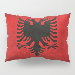 National flag of Albania with Vintage textures Pillow Sham