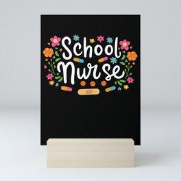School Nurse Nursing Medical Student Mini Art Print