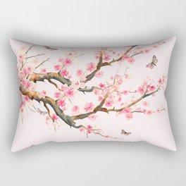 Pink Cherry Blossom Dream Rectangular Pillow