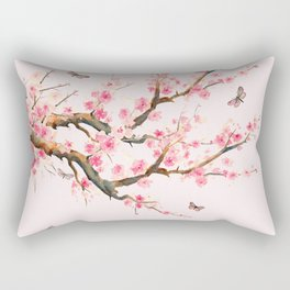 Pink Cherry Blossom Dream Rectangular Pillow