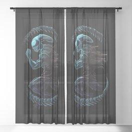 Xenomorph Sheer Curtain