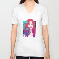 amy pond V-neck T-shirts featuring Magnificent Pond by Franc-eh