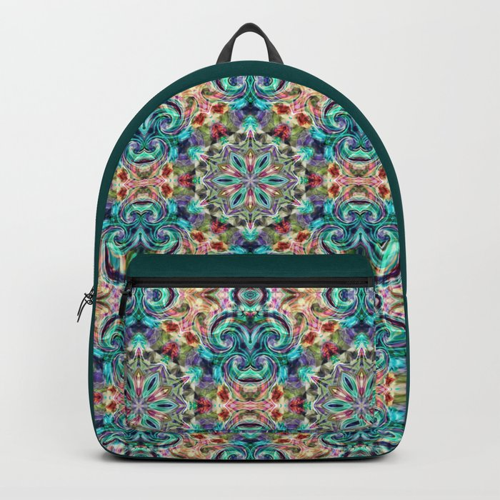 Sophisticated blue and yellow pattern . Backpack