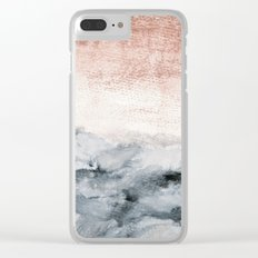 pastel landscape Clear iPhone Case