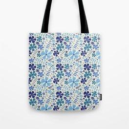 My Little Garden blue & green Tote Bag