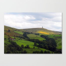 stoodley pike monument and moor Canvas Print