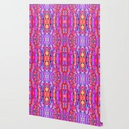 Ultraviolet Purple Sugarcane Pattern Wallpaper