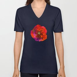 Poppies on black #2 Unisex V-Neck