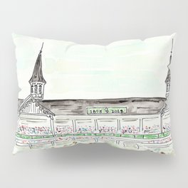 Churchill Downs Louisville KY Watercolor Pillow Sham