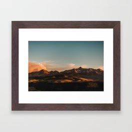 Telluride Sunset (Wide) Framed Art Print