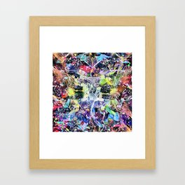 Crow's Paintbrush Framed Art Print