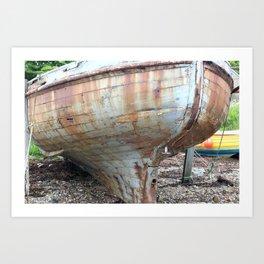 rusty boat Art Print