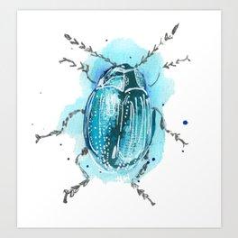Beetle Blue Art Print