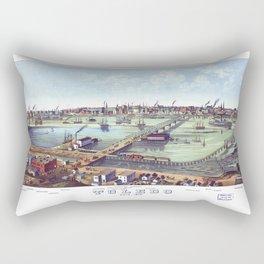 TOLEDO OHIO city old map Father Day art print poster Rectangular Pillow