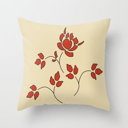 Katie's Flowers Throw Pillow