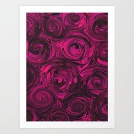 Berry Fuchsia Roses Art Print
