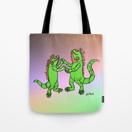 Let's Dance Iguana Style Tote Bag