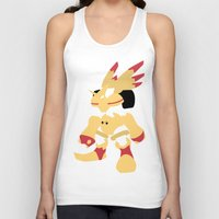 digimon Tank Tops featuring Rapidmon  by JHTY