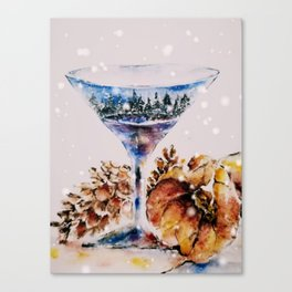 Winter in a Glass Canvas Print