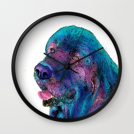 DOGS - Newfoundland dog Wall Clock