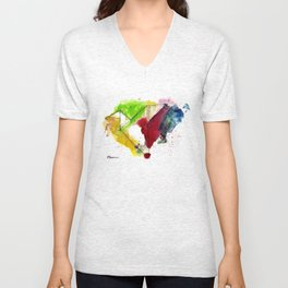 Take Your Origami Skill and Make A Paper Dove Unisex V-Neck