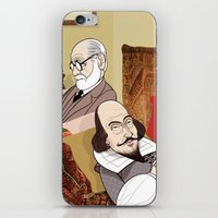 freud iPhone & iPod Skins featuring Freud analysing Shakespeare by drawgood