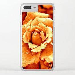 Orange rose Clear iPhone Case