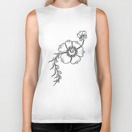 27. Black and White Henna Flower Biker Tank
