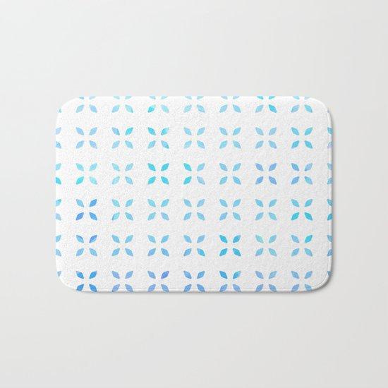 Blue diamond pattern Bath Mat
