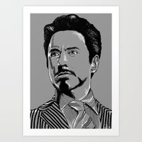 tony stark Art Prints featuring Tony Stark by Hazel