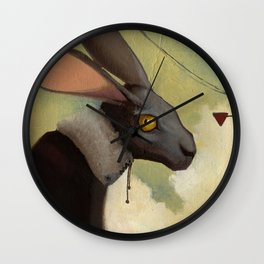 Melancholic rabbit Wall Clock