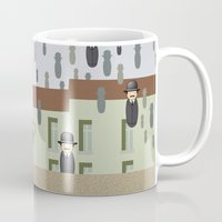 magritte Mugs featuring Kokeshi Magritte by Pendientera