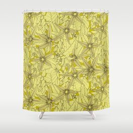 deadly nightshade chartreuse Shower Curtain