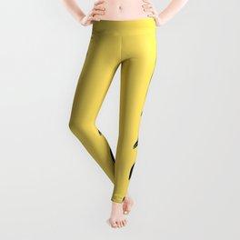 Penguins Pattern Yellow Leggings
