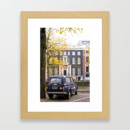 Vintage Car in Fall, Amsterdam Framed Art Print