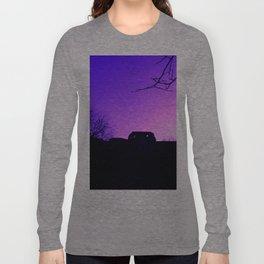 Purple Haze over Stafford Castle Long Sleeve T-shirt