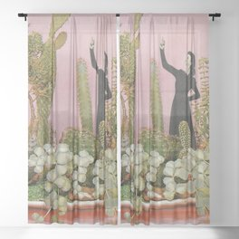 The Wonders of Cactus Island Sheer Curtain