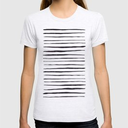 Black Ink Linear Experiment T-shirt