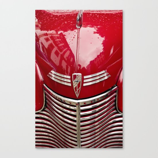 red chevy Canvas Print