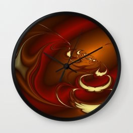 Latte Fractal Wall Clock