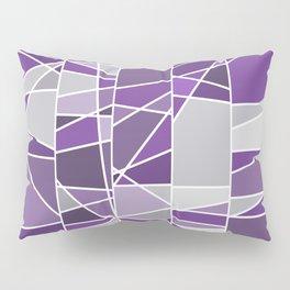 Purple and grey Pillow Sham