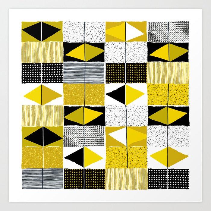diamond pattern 034 Art Print