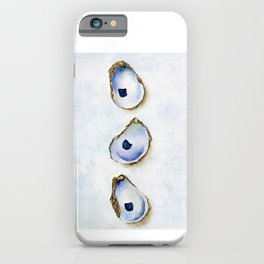 Three Oysters Watercolor by Liz Ligeti Kepler iPhone Case