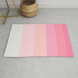 Pink Clouds Colorful Pattern Rug