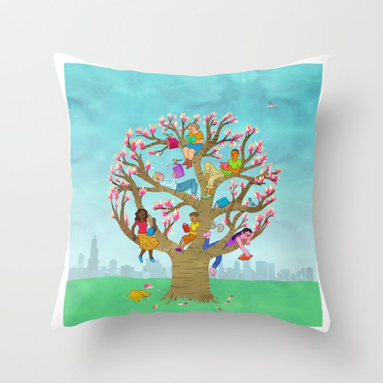 Tree Readers Throw Pillow