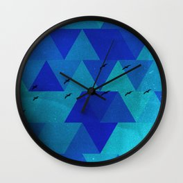 birds flying in Florida Wall Clock