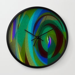 Green Oval Abstract Wall Clock
